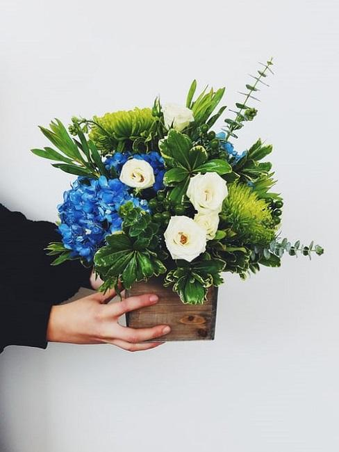 Composizioni floreali fai da te battesimo