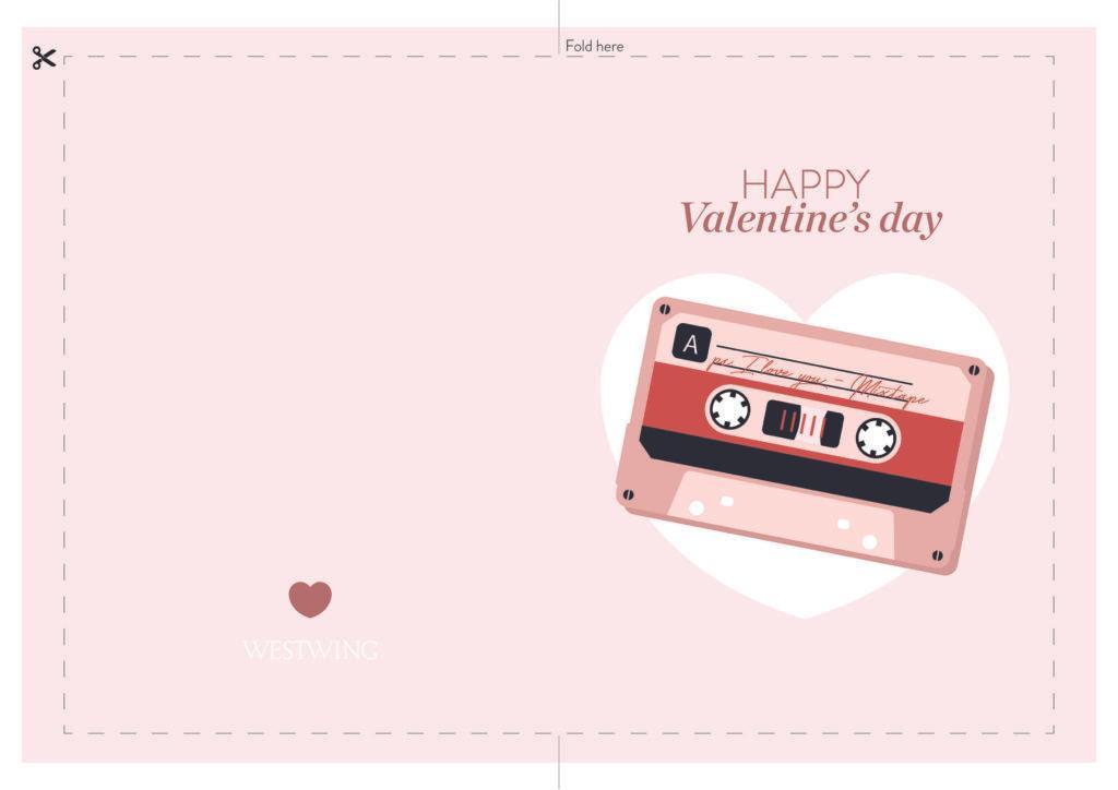 Biglietto di San Valentino anni '80