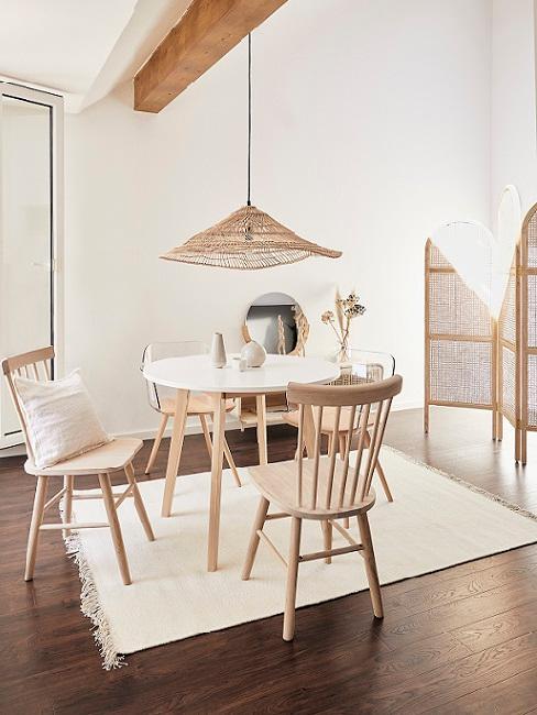 sala pranzo legno