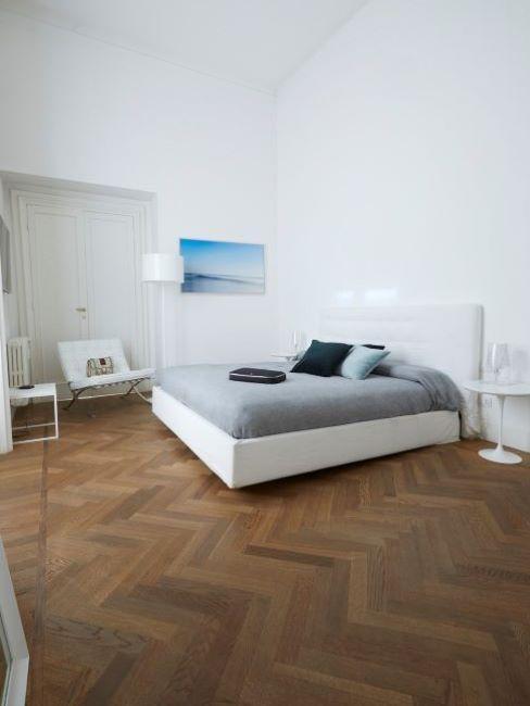 Camera da letto total white