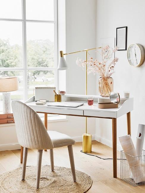 scrivania bianca