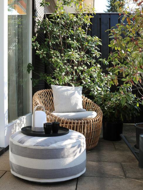 Area relax sul terrazzo