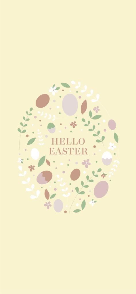 Sfondo Hello Easter