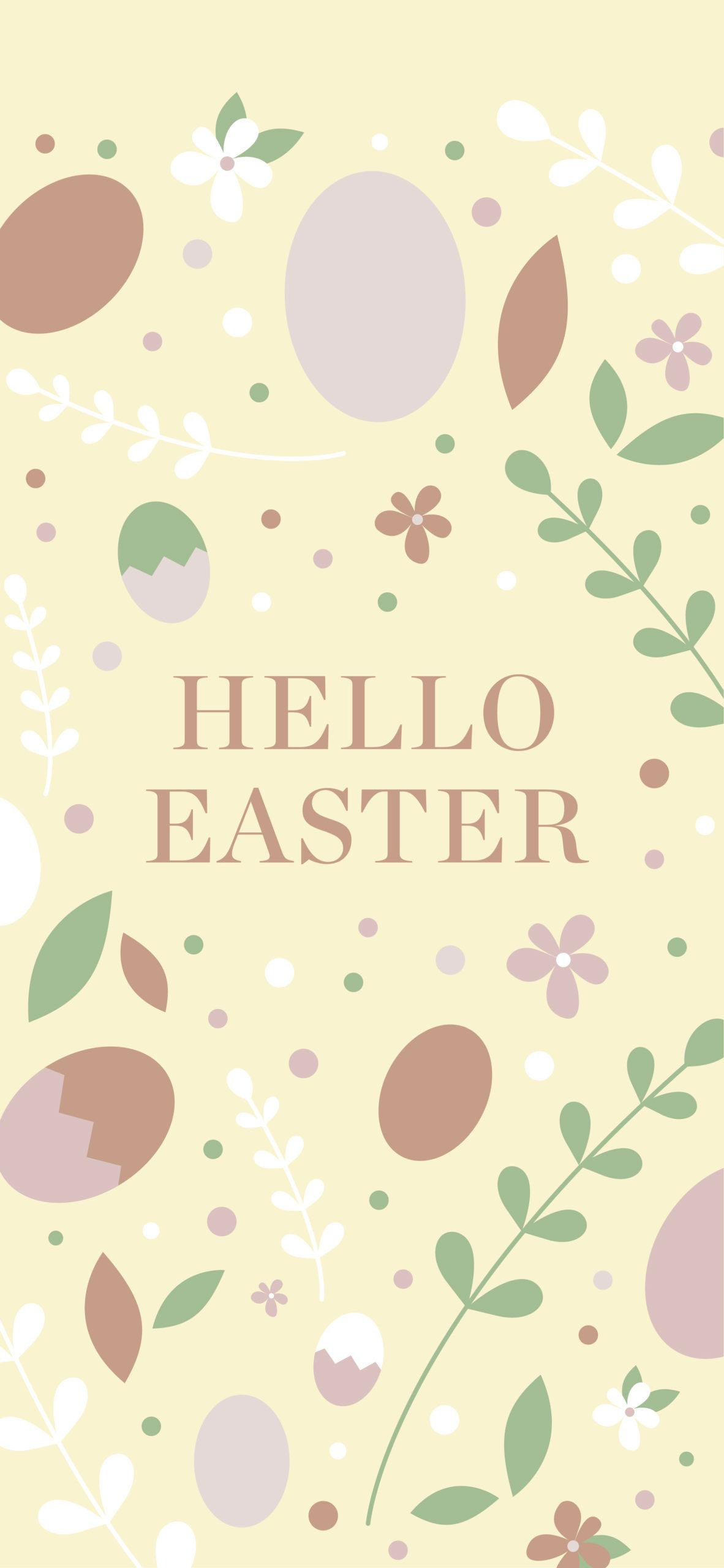 Sfondo pastello Hello Easter
