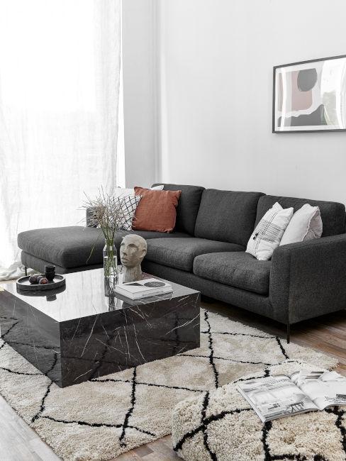 Color ardesia in soggiorno