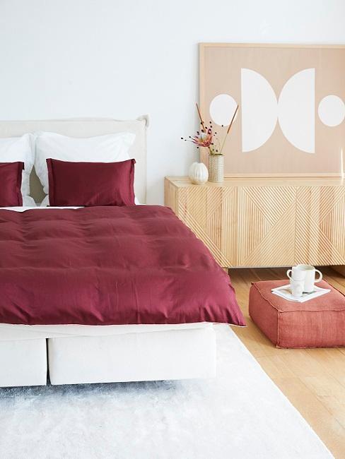 letto rosso