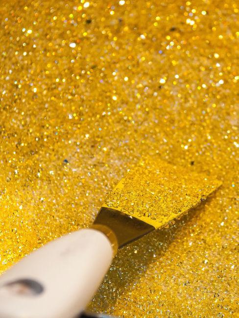 Glitter oro per pareti