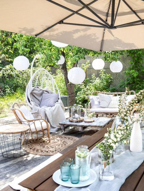 Esempio giardino con copertura