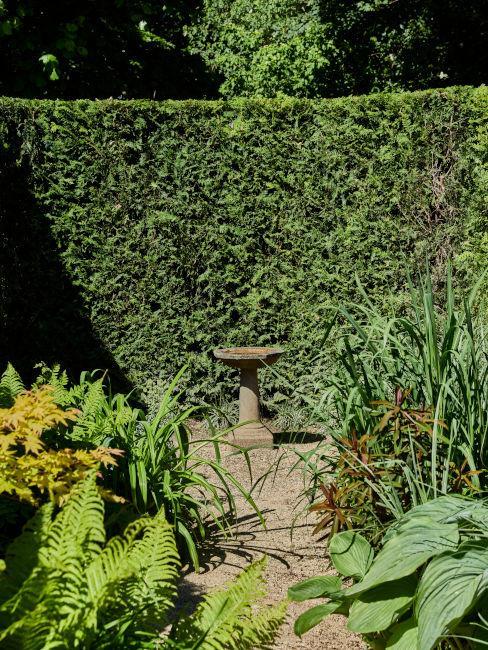 Fontanaper uccelli per il giardino