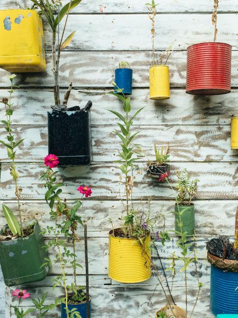 giardino riciclo creativo