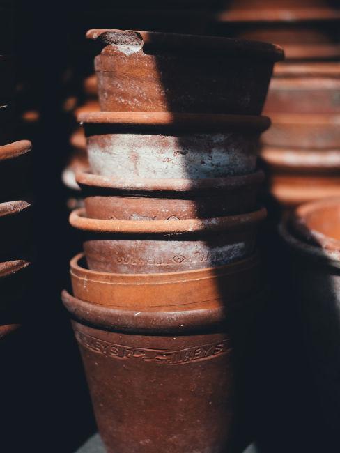 vecchi vasi riutilizzabili
