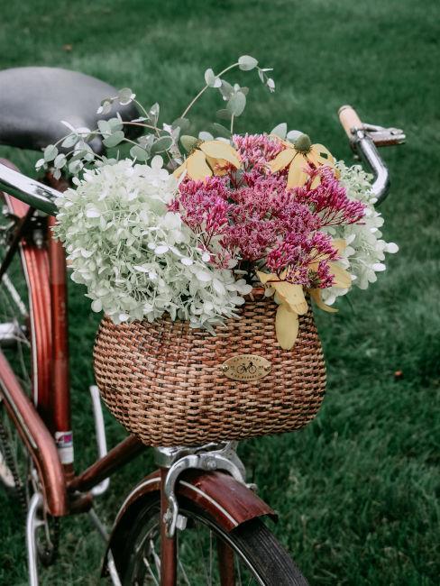 Esempio bici usata come fioriera
