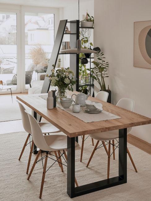 sala da pranzo in stile nordico