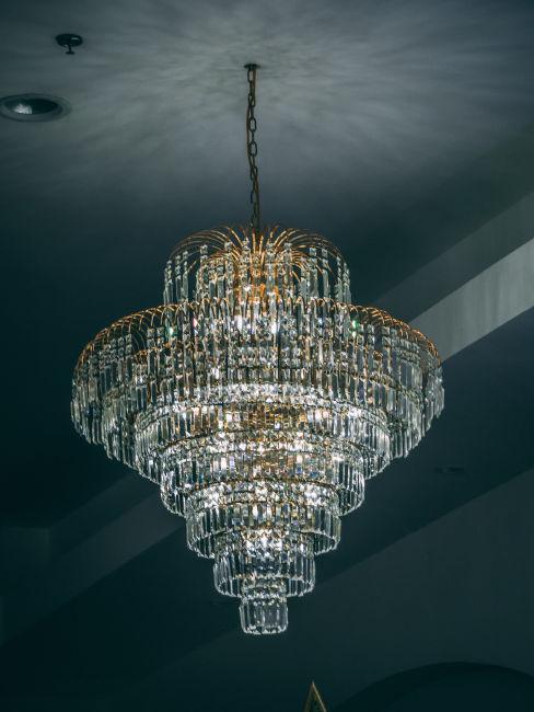 lampadario decorazioni barocche