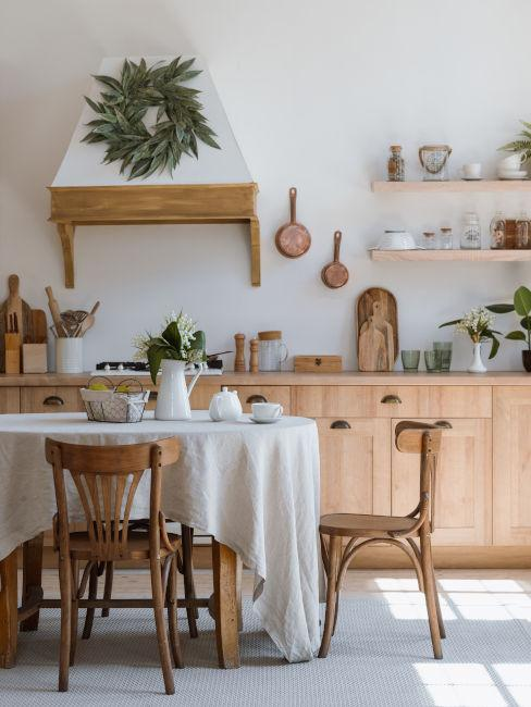 cucina in stile rustico