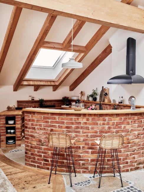 cucina open space stile rustico