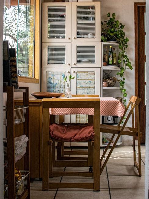 Tavolo e sedie pieghevoli