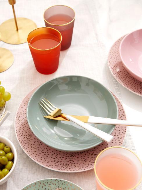 set piatti colorati
