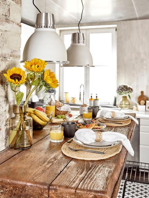 esempio bancone per colazione in cucina abitabile