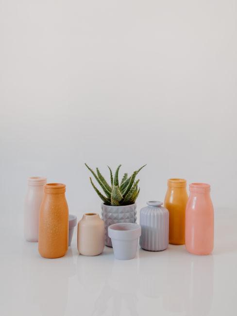 decoupage e colori per vasi decorativi