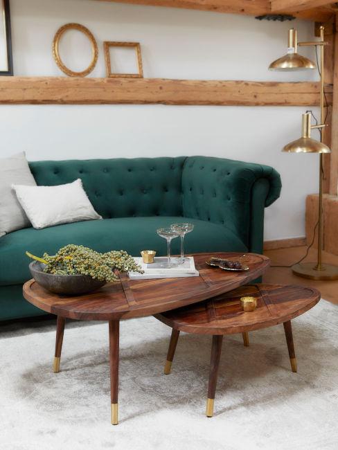 divano verde per soggiorno