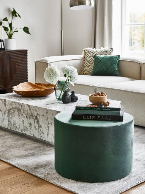 dettagli verde salvia per soggiorno