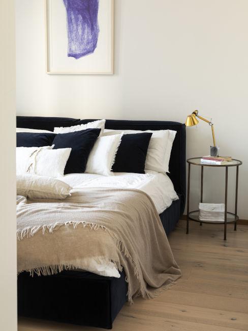 Camera da letto minimal glam