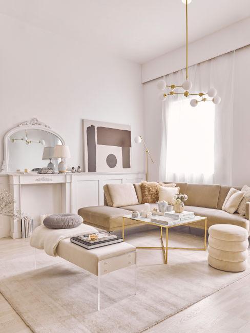 soggiorno moderno elegante toni chiari