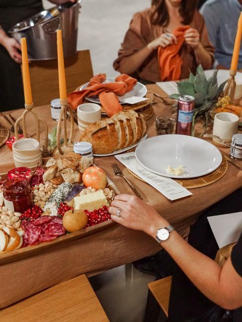 cena con buffet e finger food