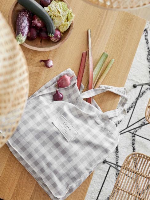 borsa di tela per fare la spesa