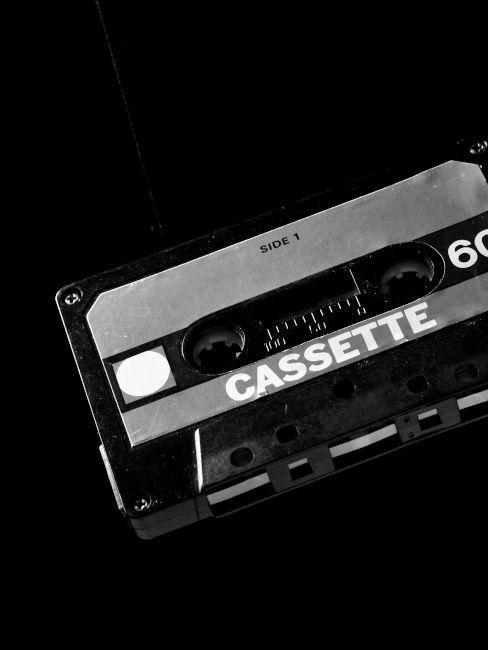 cassette musica oggetti decorativi anni 80