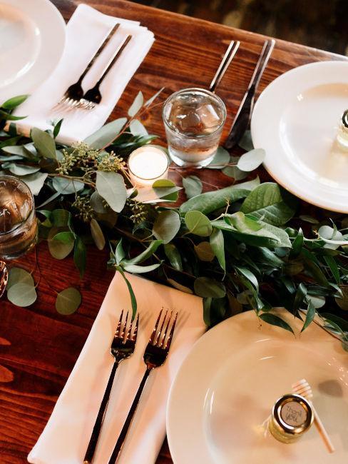decorazione tavola per matrimonio