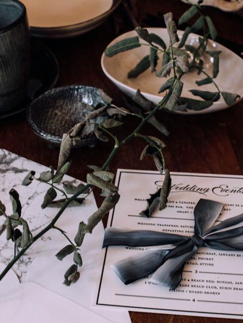 inviti di nozze con rametto d'ulivo