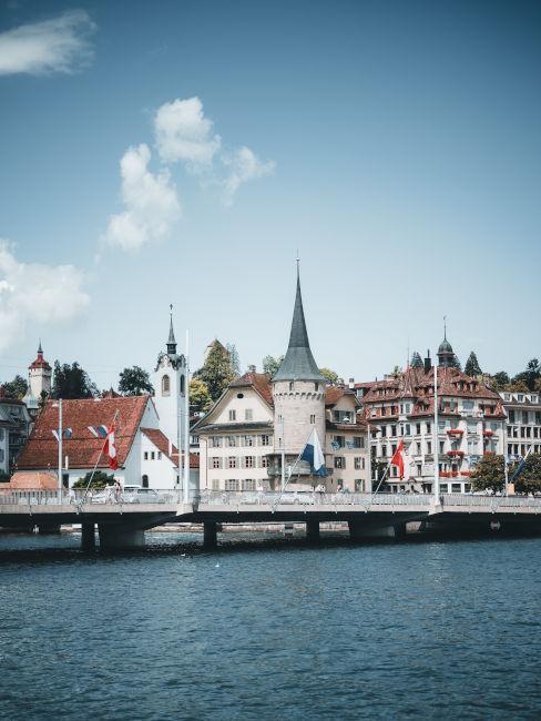 Lucerna in Svizzera vista con il fiume
