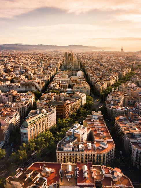 vista dall'alto su Barcellona