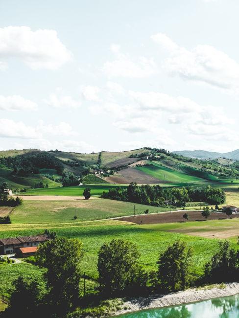 Vista dalla torre di Castell'Arquato