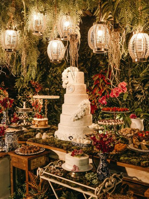 decorazioni buffet dolci e torta nuziale