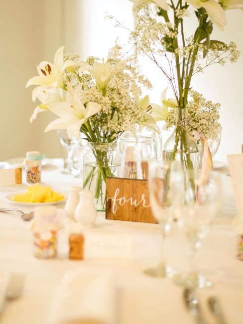decorazioni tavolo matrimonio
