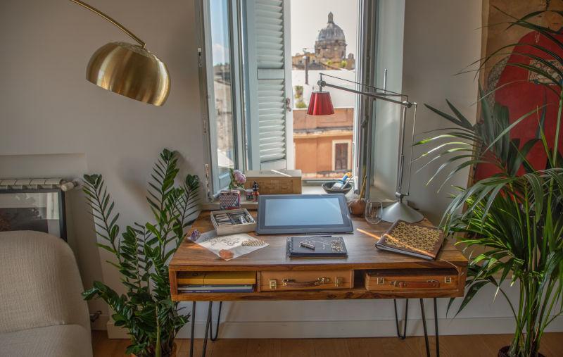 Home office con vista su Roma