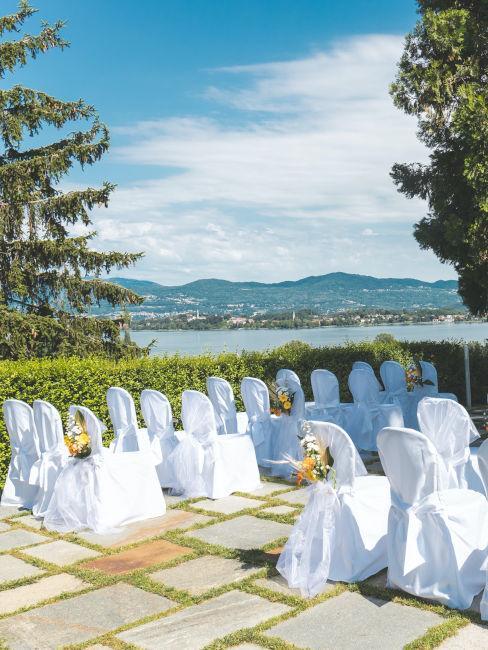 ricevimento matrimonio sul lago