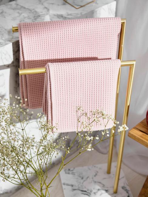 porta asciugamani dorato