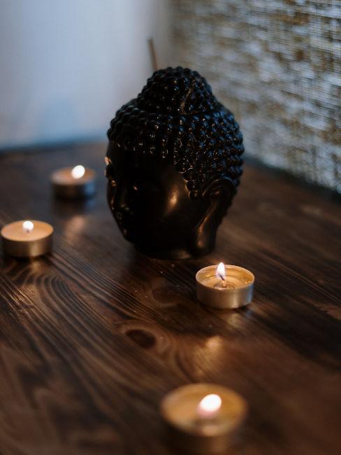 candele e decorazioni per angolo spa