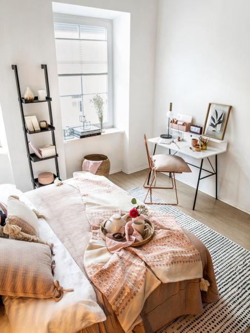 camera da letto e studio insieme