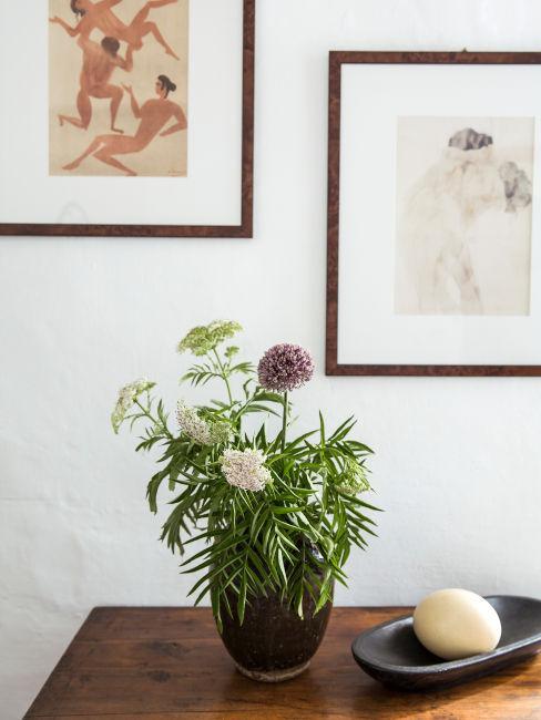 Vaso di fiori freschi