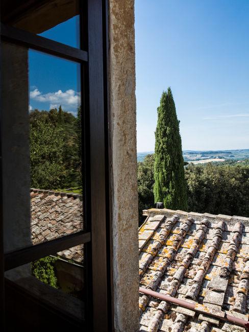 Vista dalla finestra Agriturismo Ebbio