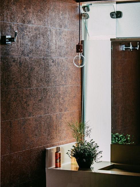 parete bagno in pietra