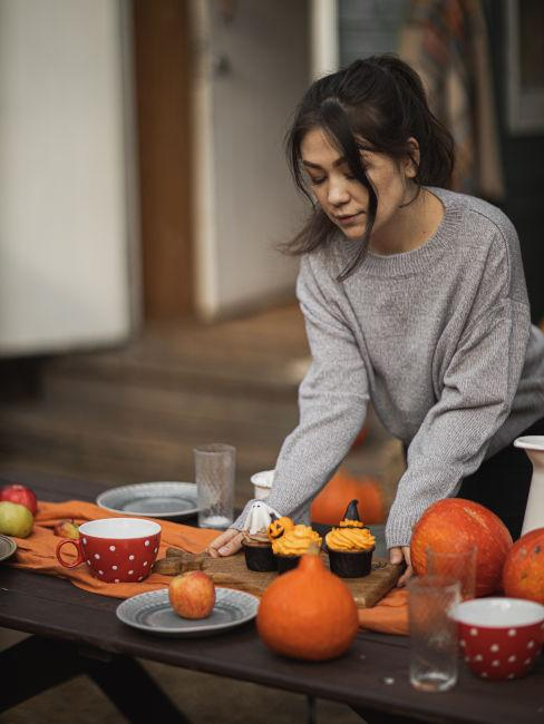 decorazioni tavola per festa halloween