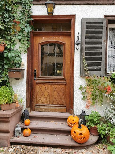 decorazioni halloween ingresso di casa