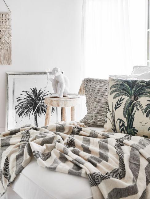 tessili camera con motivi tropicali
