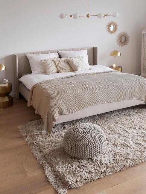 camera da letto toni del tortora